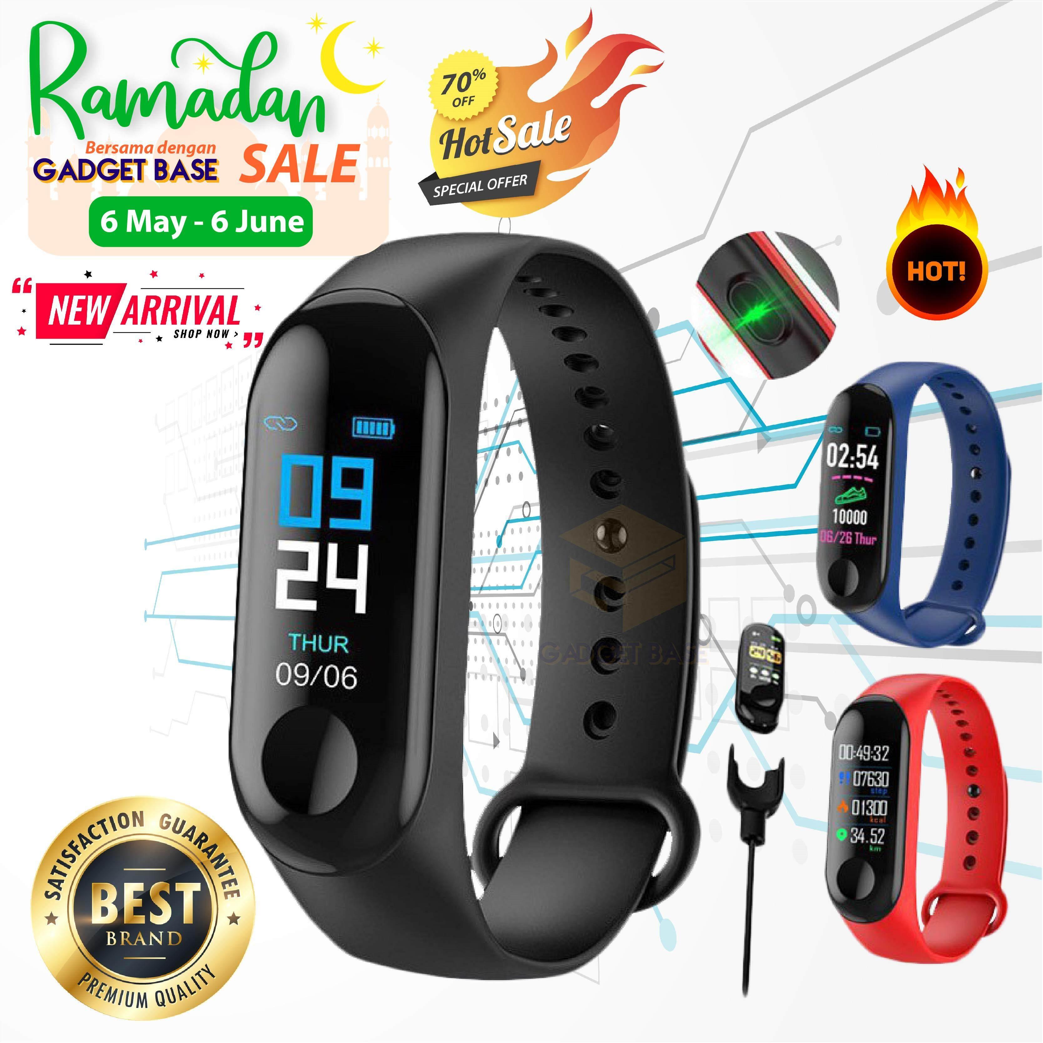 172554098b5 M3 Smart Watch Fitness Tracker Smart Band Waterproof Smart Bracelet MI Band  New