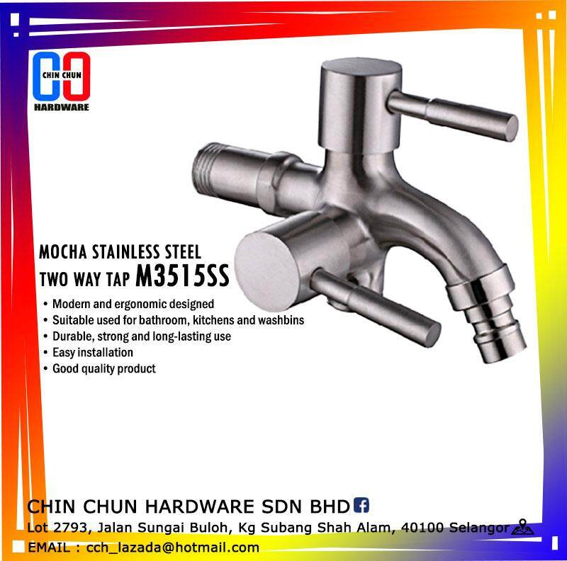 * SELLING FAST * MOCHA M3515SS STAINLESS STEEL TWO WAY TAP