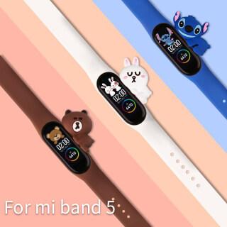 Vòng Đeo Tay Mới Cho Miband 5 6 Dây Đeo Thay Thế Dây Đeo Silicon Xiaomi Mi 5 Phụ Kiện Dây Đeo Xiaomi Miband 6 thumbnail