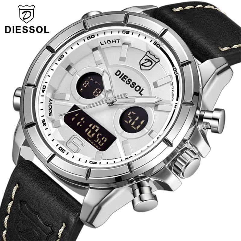 DIESSOL Mens Fashion Watches Luxury Brand Men Quartz LED Digital Watch Military Sport Waterproof Business Clock Malaysia
