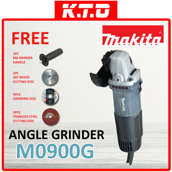 MAKITA M0900G ANGLE GRINDER 4 100MM 540W + FREE 4 ITEM
