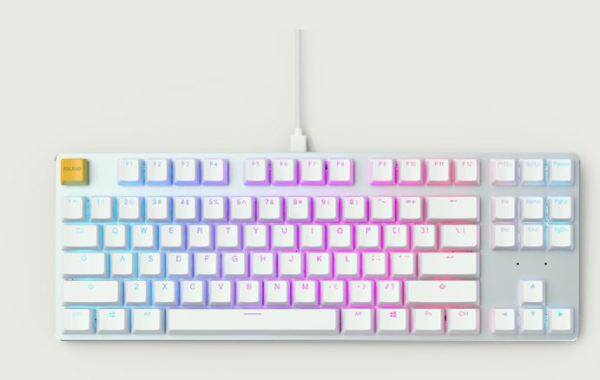 # GLORIOUS PC GAMING GMMK WHITE ICE EDITION - MODULAR MECHANICAL GAMING KEYBOARD # Gateron Brown Prebuilt [3 MODEL] # Malaysia