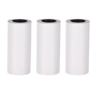 3 5 Cuộn Giấy Nhiệt Tự Dính Cuộn Giấy Dính Màu Trắng 57X30Mm Không Chứa BPA Không Có Giấy Lót Máy In Nhiệt Bỏ Túi PAPERANG Poooli Phomemo Cho PeriPage thumbnail