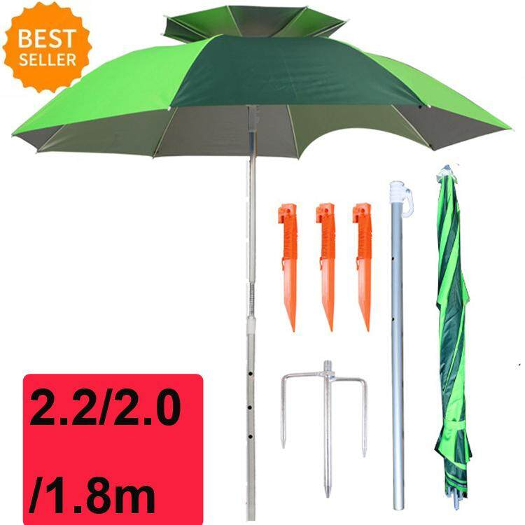 1.8/2.0/2.2/2.4m HOT SALE Foldable Outdoor Canopy 360º Rotating Sunshade Portable Adjustable Fishing Umbrella Tent Anti-UV Sunscreen Umbrellas for Fishing Beach Camping Picnic Home Garden Park Beach Umbrellas 2019