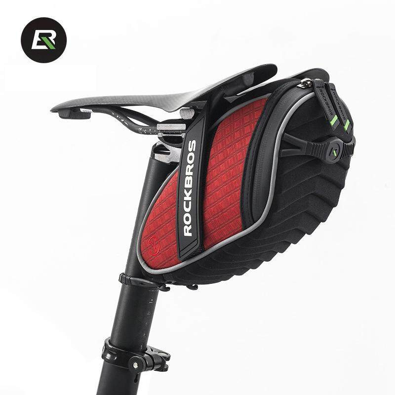 Rockbros Bicycle Bag Rainproof Saddle Bag Reflective Rear Seatpost Bike Bag Four Color Red By Snote.