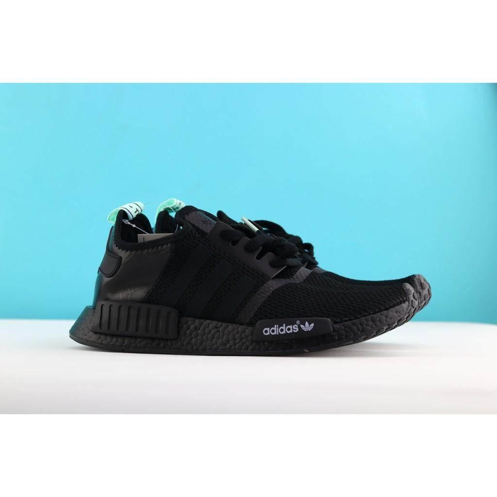 fd62a262ebe37 original Adidas NMD R1 Primeknit women lightweight running shoes black 36-40