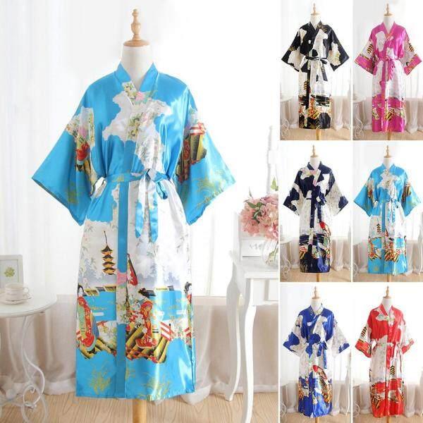 Nơi bán Đồ Ngủ Nữ Áo Choàng Tắm Sa Tanh Dài Áo Choàng Kimono Phù Dâu Cô Dâu Đám Cưới Cô Dâu