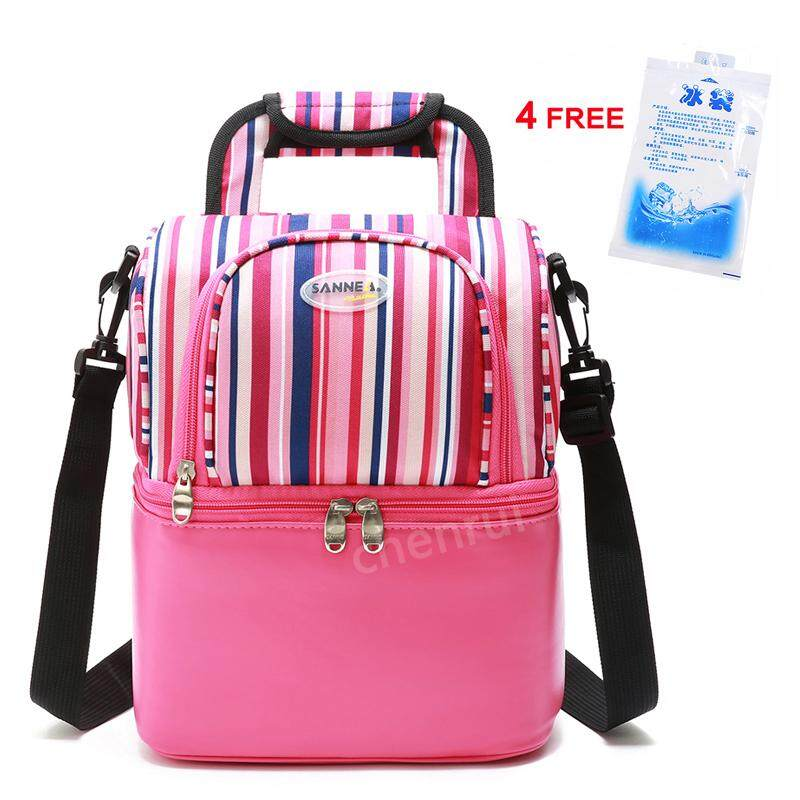 55297379a061 Insulated Cooler Double Layer Lunch Bag Thermal Bag Breastmilk Cooler Bag  Insulated Baby Bag