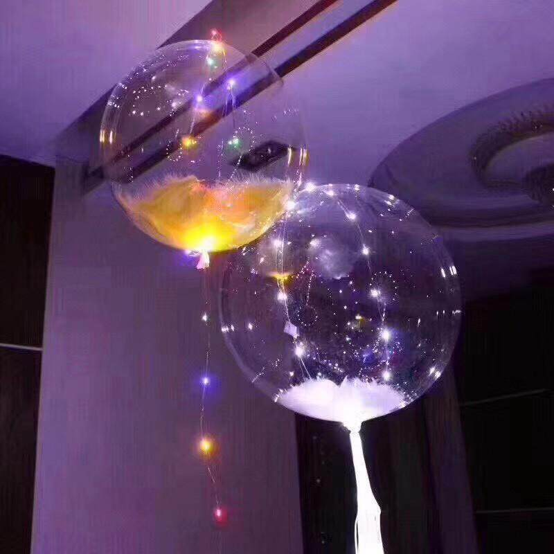 LED Colorful Bobo Ball Wedding Room Decorative Light Wave Balloon BW