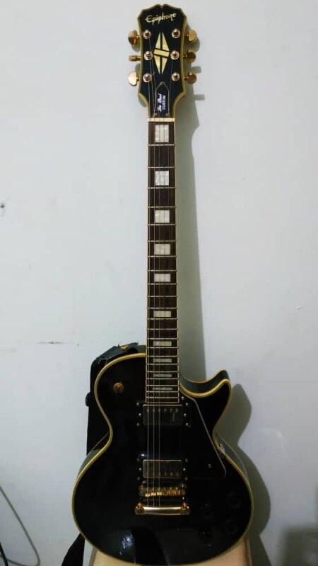 [USED] Epiphone Les Paul Custom Electric Guitar, Ebony Malaysia