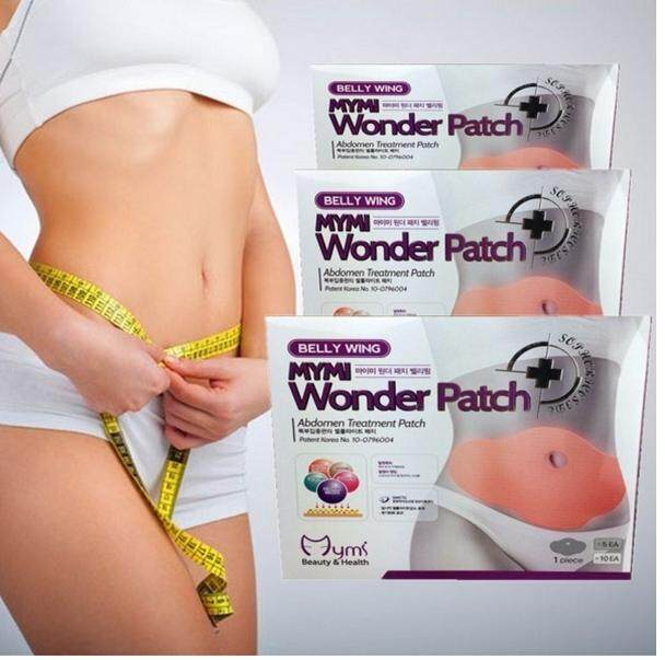 Original Korean Mymi Wonder Slimming Patch 1 Box = 5 Pieces By My Beauty Diary.
