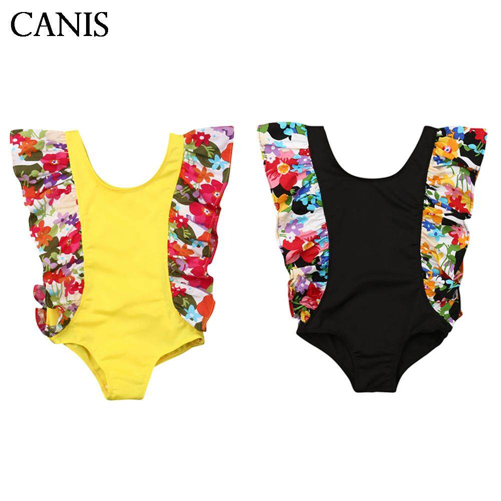 fa48f360512 Toddler Kid Baby Girl Fly sleeve Swimwear Swimsuit Bathing Suit Swimming  Clothes