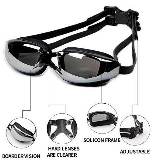 Jammers Mens Swimming Gear Set Swim Trunks Mirrored Goggles Swim Cap  Earplug Waist Bag Clothing & Accessories classiccakes.co.nz