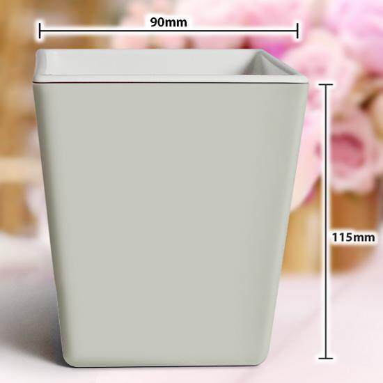 Square Colorful Pot Plastic Flower Bowl Home Decor Gardening Multipurpose DIY Single Color (1pc) big