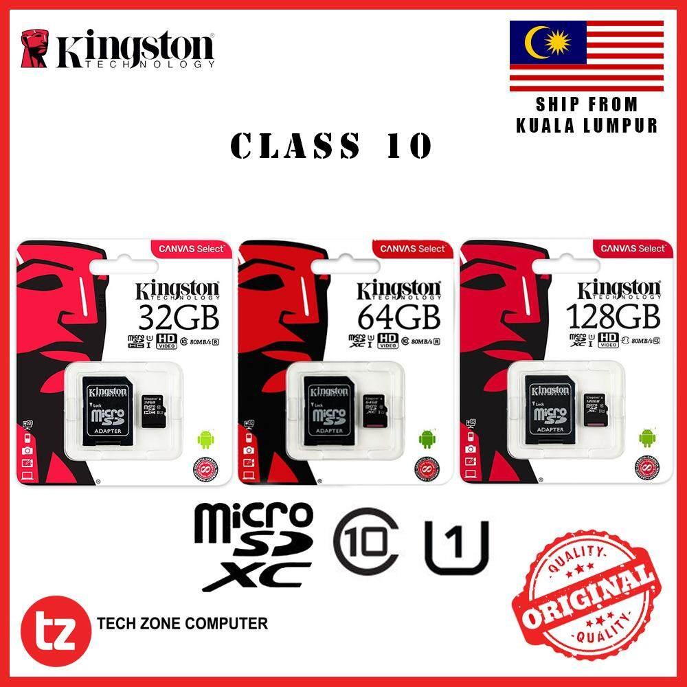 100% Original KINGSTON 32GB 64GB 128GB Class 10 Micro SD Card