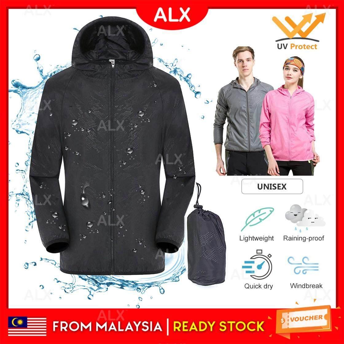 Waterproof/&Windproof Jacket Unisex Quick Dry Lightweight Rain Coat Outdoor M-3XL