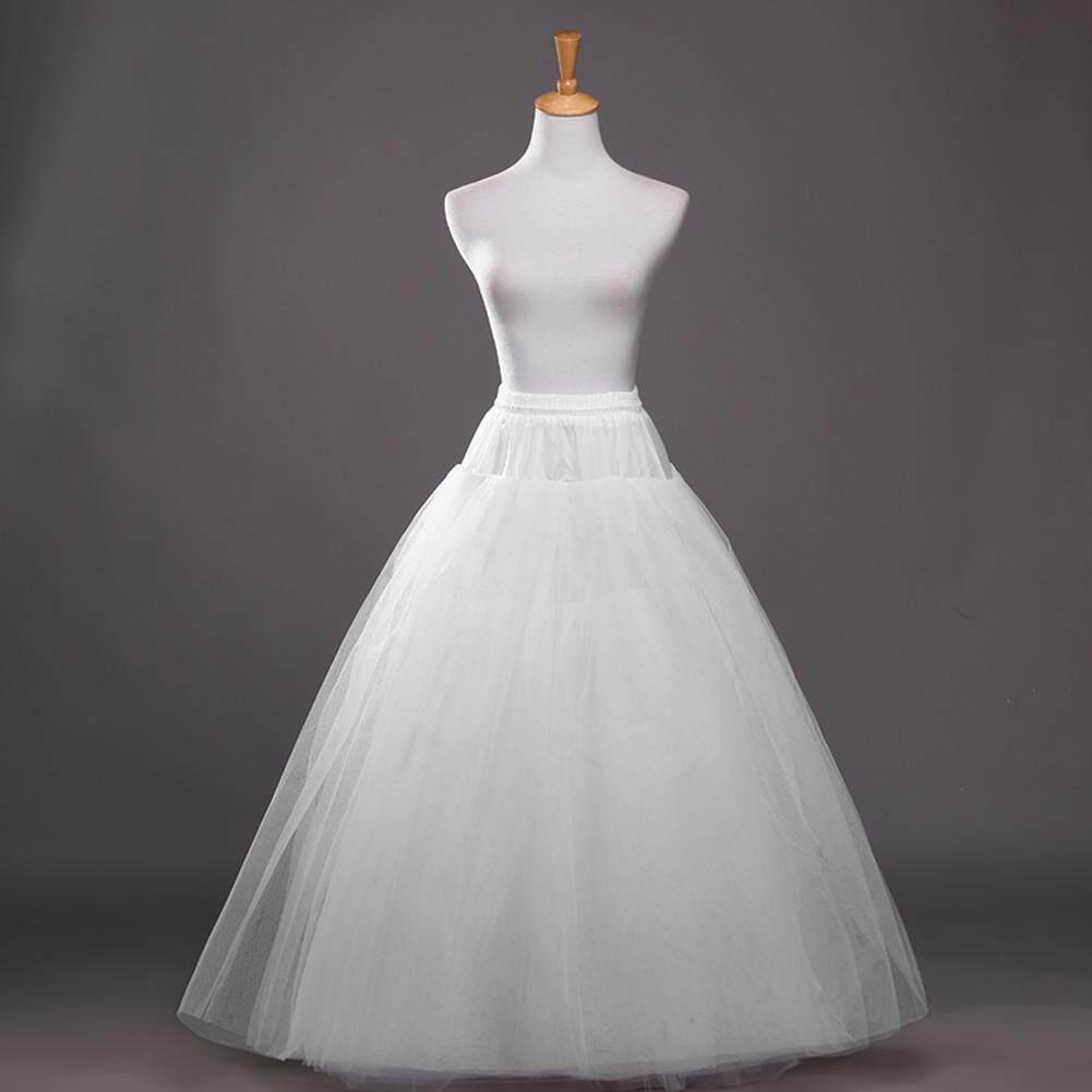 Women 4 Layer Petticoat White Underskirt Bridal Crinoline Wedding Dress