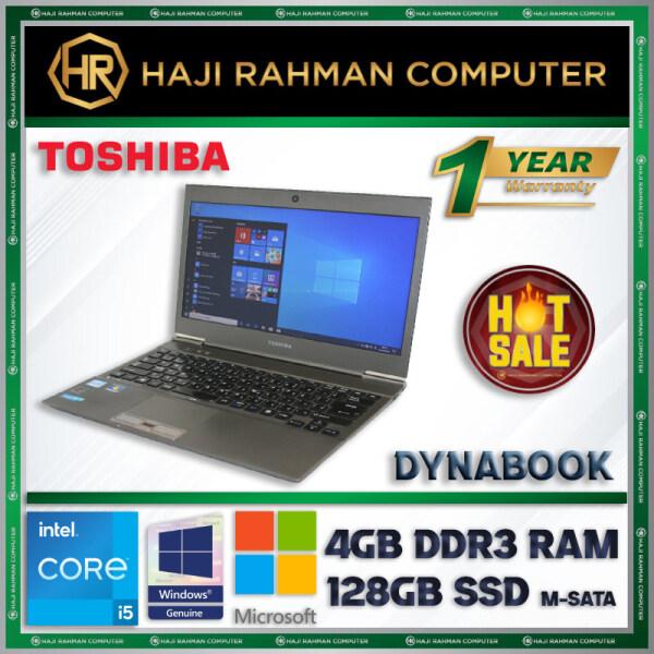 ORIGINAL - TOSHIBA DYNABOOK 13 - INTEL CORE I5-3337U / 4GB DDR3 RAM / 128GB SSD / WINDOW 10 PRO GENUINE / 13 INCH / 100% 1 YEAR WARRANTY Malaysia