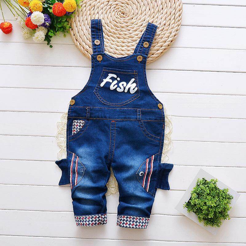ca0bfc39 IENENS Infant Boys Long Pants Denim Overalls Dungarees Kids Baby Boy Jeans Jumpsuit  Clothes Clothing Outfits
