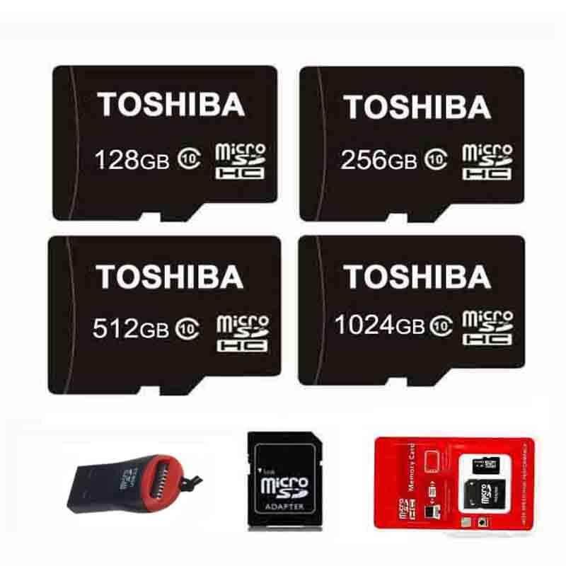 Authentic 128GB 256GB 512GB 1024GB Memory Micro SD Card SDHC Class 10 128G 256G 512G 1TB + Reader Ưu Đãi Bất Ngờ