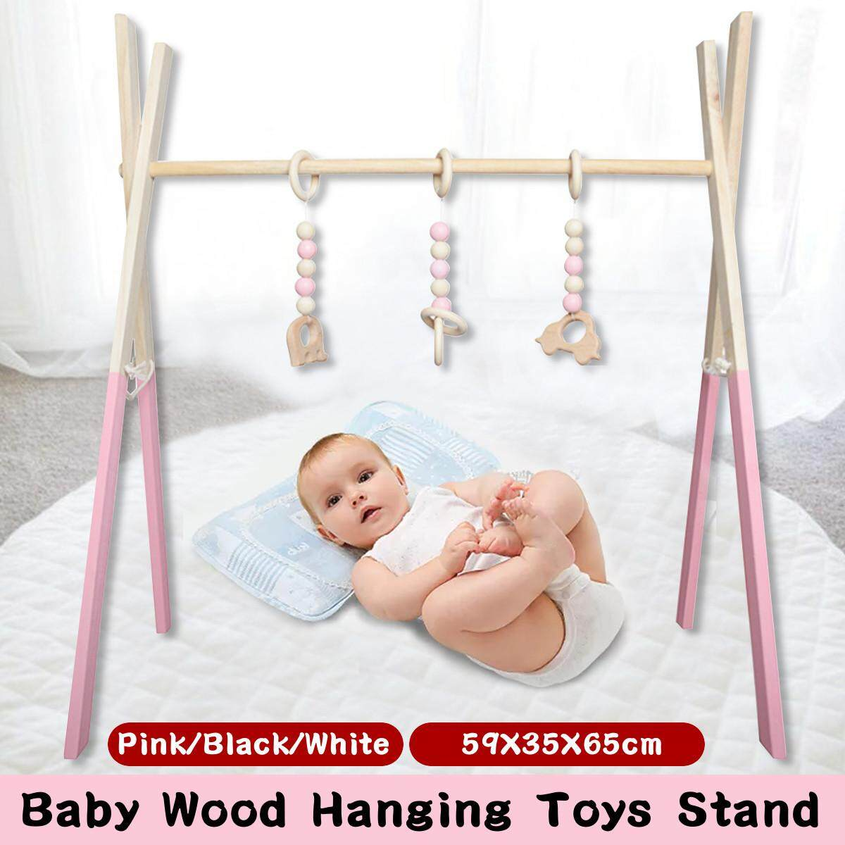 Wood Baby Play Stand Toy Nursery Fun Hanging Toys Mobile Wood Rack Activity Gym Giá Tốt Duy Nhất tại Lazada