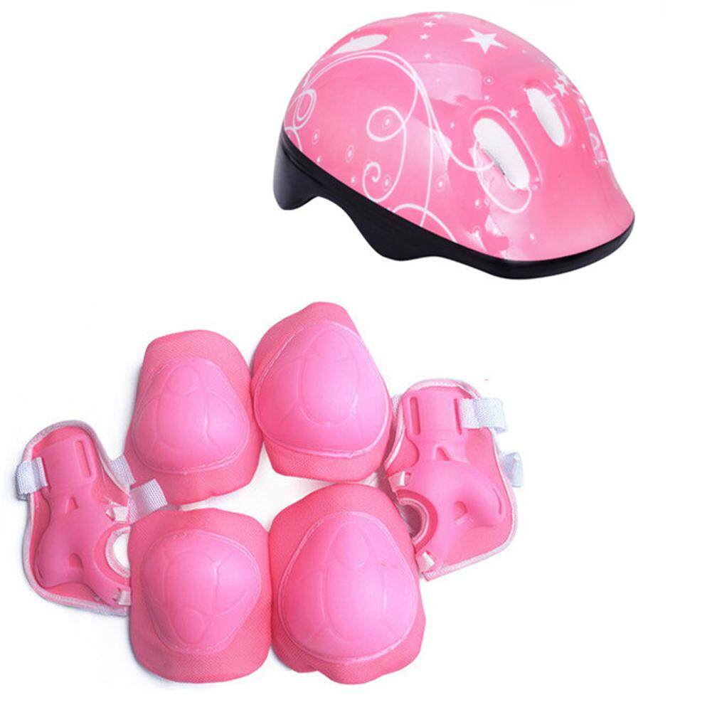 Boys & Girls Kids Skate Cycling Bike Safety Helmet Knee Elbow Pad Set UK HOT
