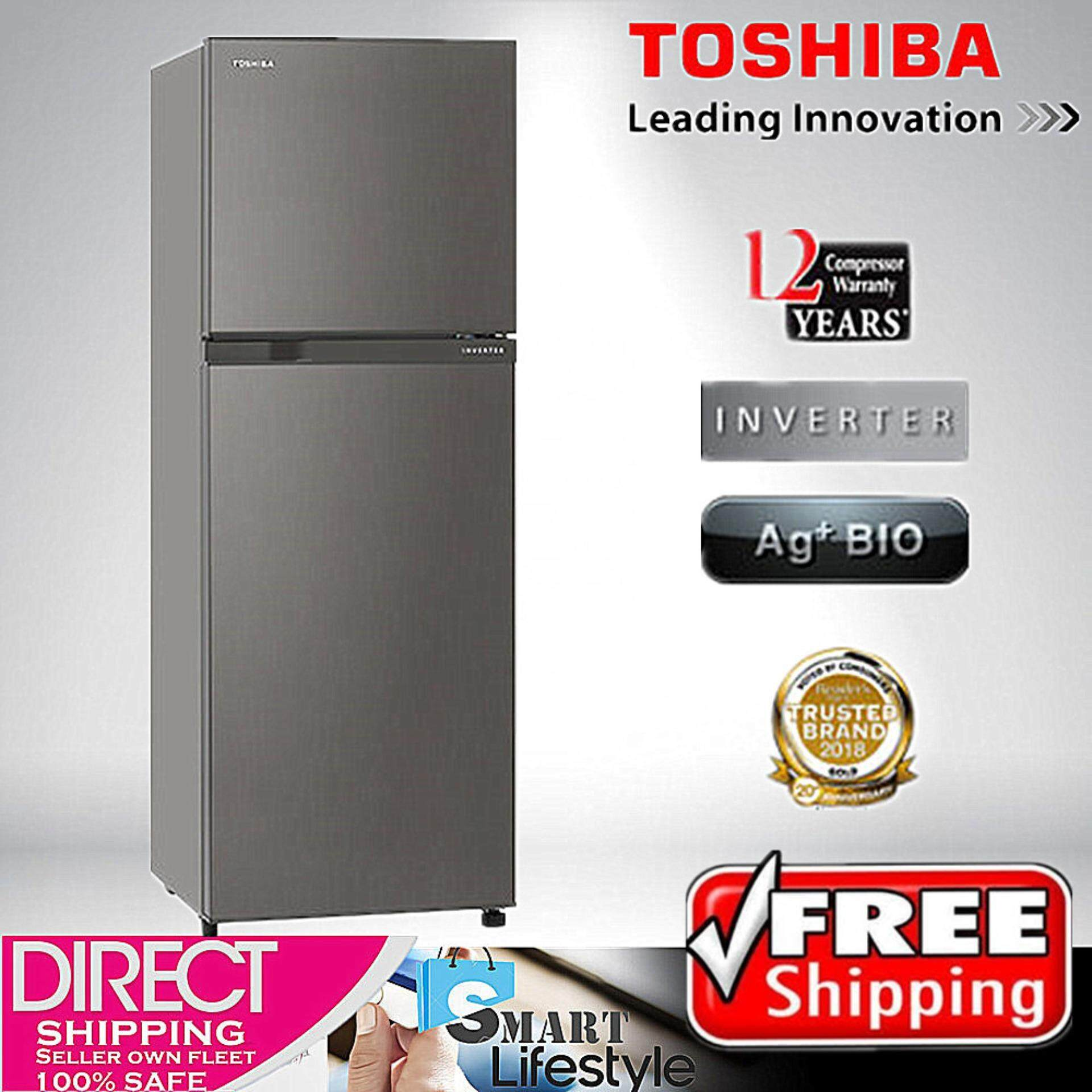 TOSHIBA 252L 2 DOOR REFRIDGERATOR GR-A28MS (DS) 【FREE SHIPPING】