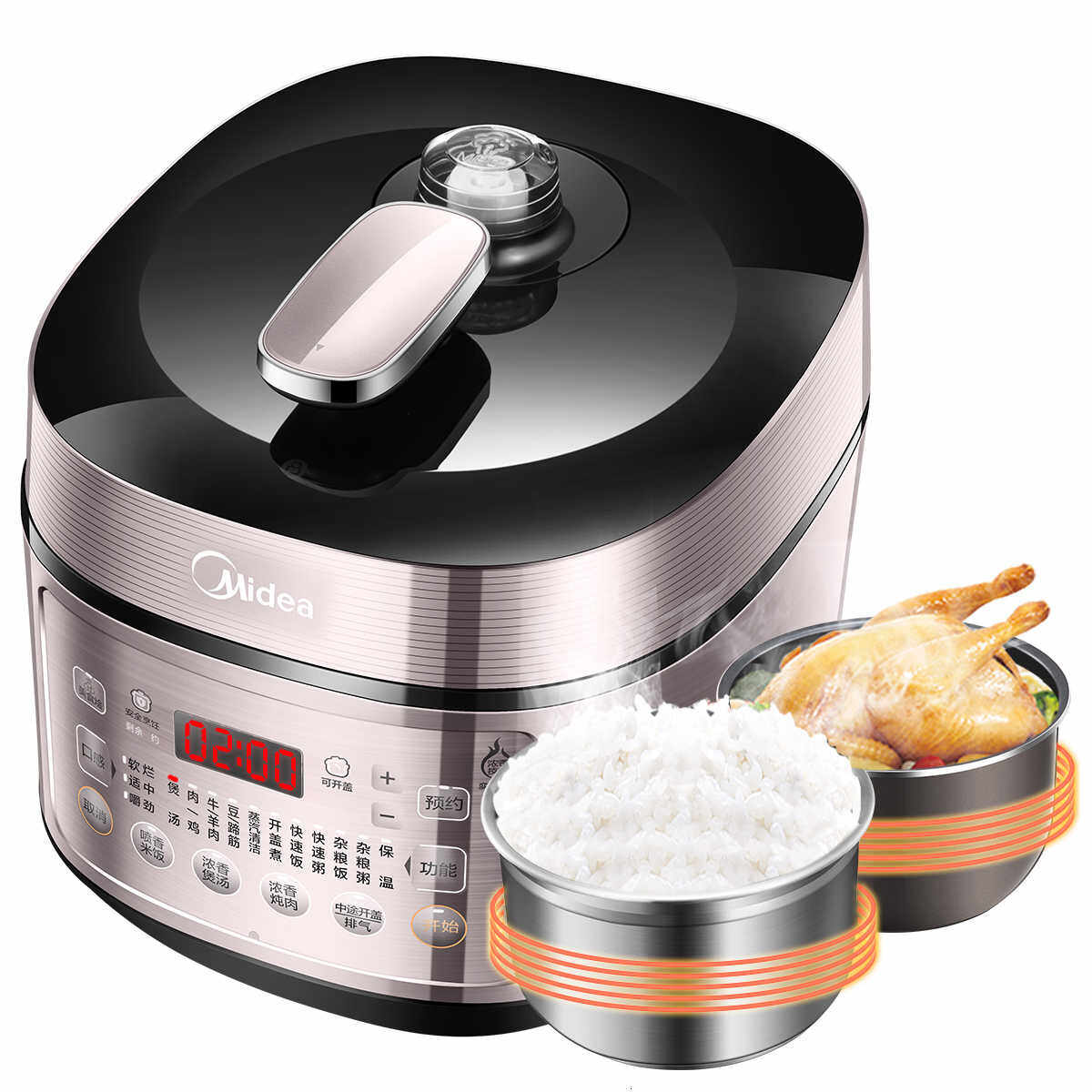 Beautiful Of Stainless Steel Internal Bladder Electric Pressure Cooker Ih Large Fire Heating Double