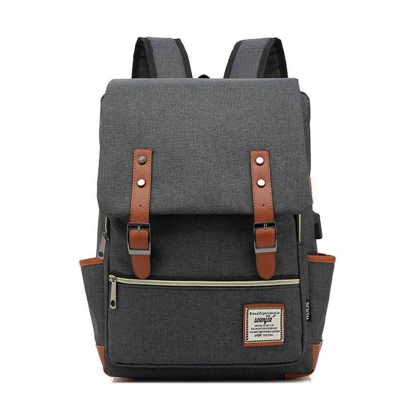 Backpack Men & Women Shoulder Bag Canvas Waterproof Large Capacity Laptop School College Student Bag Fashion Casual Travel European Korean
