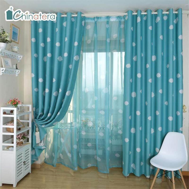 [Chinatera] 100X250 Cm Mây In Rèm Tối Cửa Sổ Phòng Khách Rèm Che Màn Cho Rèm Phòng Ngủ