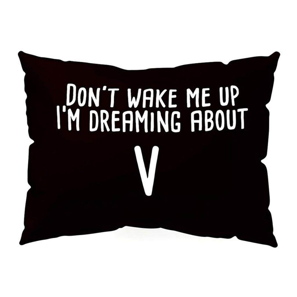 Hotilystore KPOP  Pillow Case DONT WAKE ME UP Rectangle Cushion Cover Home Decor Get up sofa
