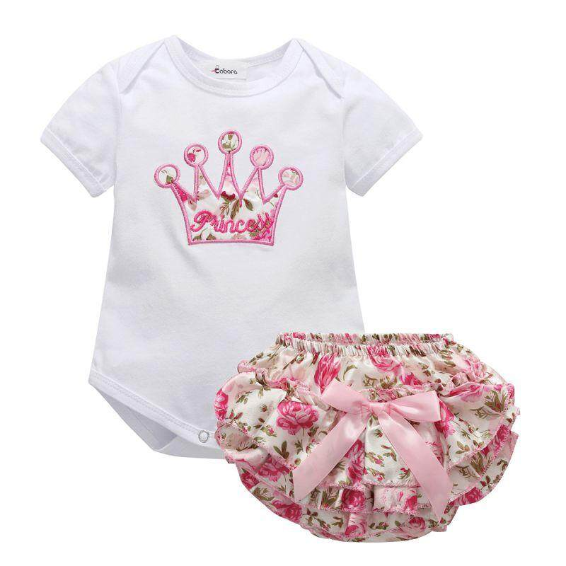 2pcs Outfit Newborn Baby Girls Clothes Romper Jumpsuit Bodysuit+pants Set 0-18m By Babyqt.