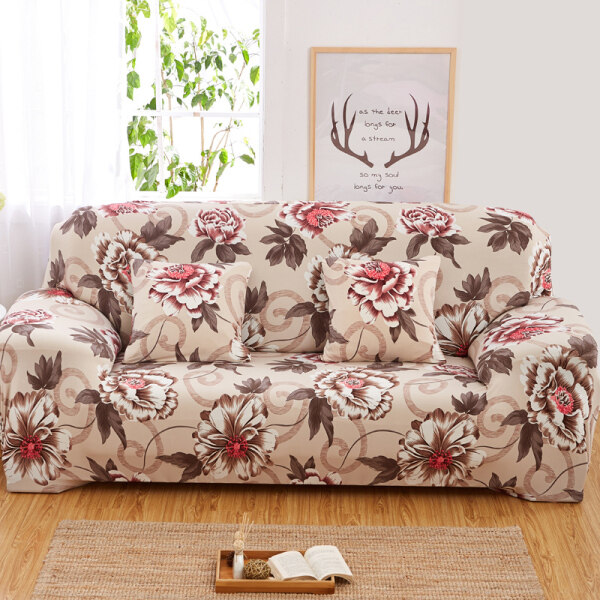 Sofa Cover 1/2/3/4 Seater Slipcover Sofa Anti-Skid Stretch Protector Couch Slip Cushion one sofa cover one free pillow case with foam stick