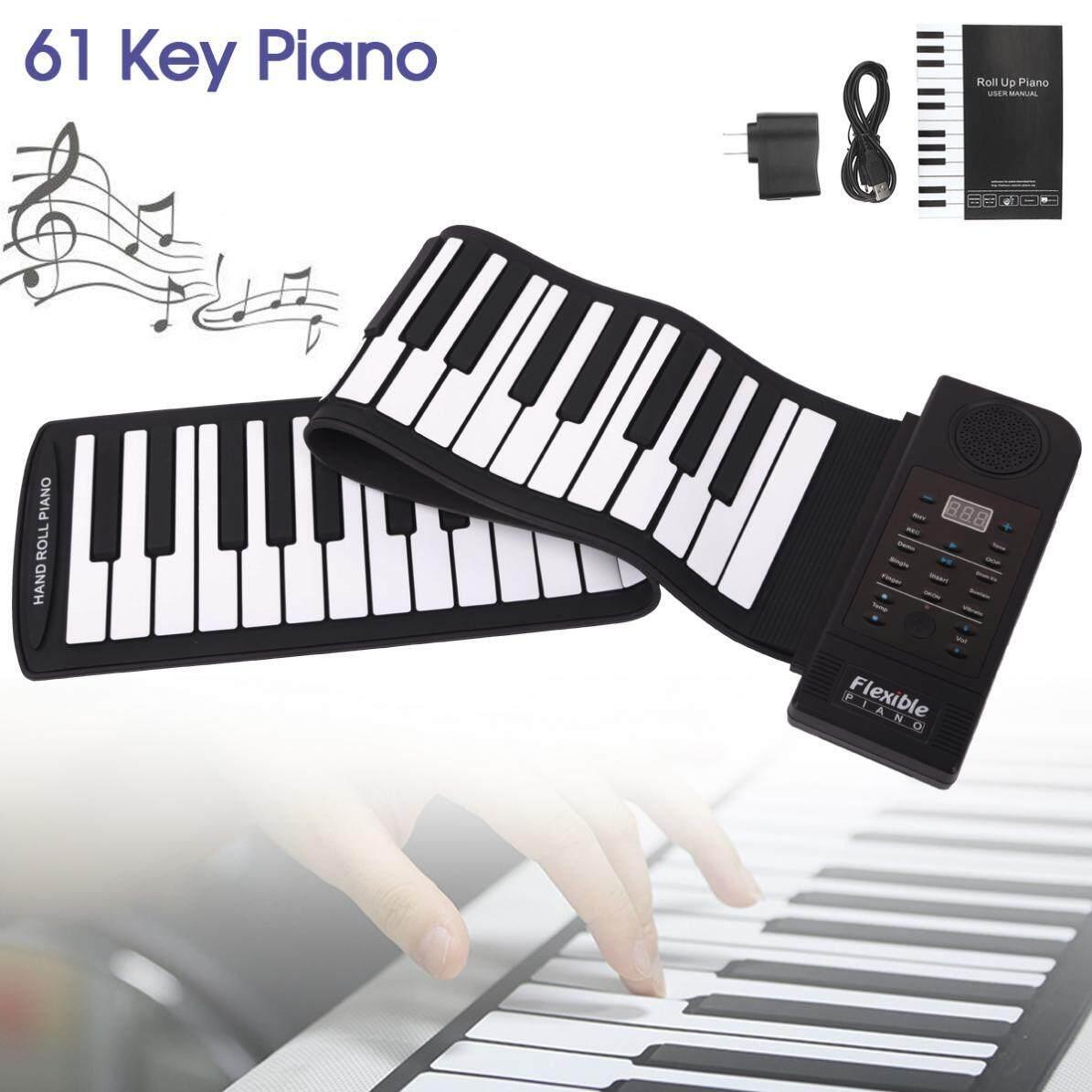 Slade Di Động 61 Phím Cuộn Dẻo Silicone Đàn Piano USB Điện Tử Midi Bàn Phím Đàn Piano