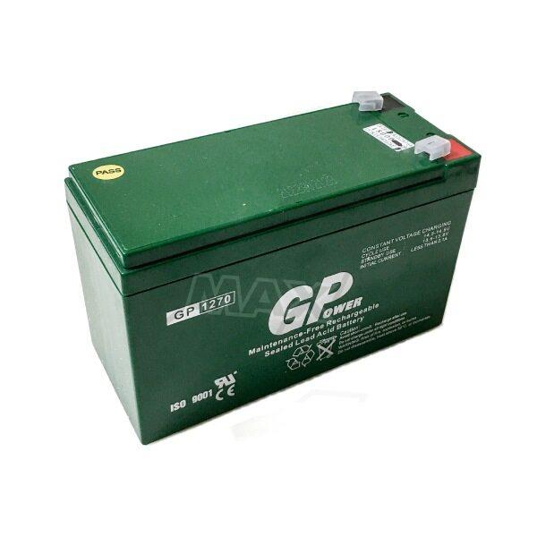 GPower GP1270 Backup Battery 12V 7.0AH Rechargeable Seal Lead Acid - Autogate / Alarm / CCTV / Door Access