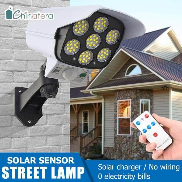 Đèn Đường LED Chinatera 77, Đèn Treo Tường Năng Lượng Mặt Trời Chống Thấm Nước, 3 Chế Độ, Cảm Biến Chuyển Động PIR, Chiếu Sáng Sân Vườn, Camera Có Hình Dạng Bằng Năng Lượng Mặt Trời