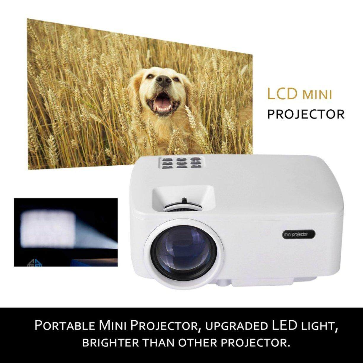 Best Sales TZ80 50W Portable 1080P HD Projector Home Cinema Theater Multimedia Player