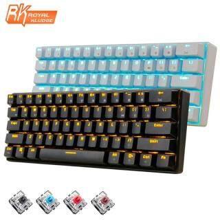 Bàn Phím Chơi Game Cơ Học Công Thái Học Đèn Nền LED Trắng Không Dây Bluetooth RK61 Mới, Game Thủ Được Chiếu Sáng Dành Cho Máy Tính Xách Tay thumbnail