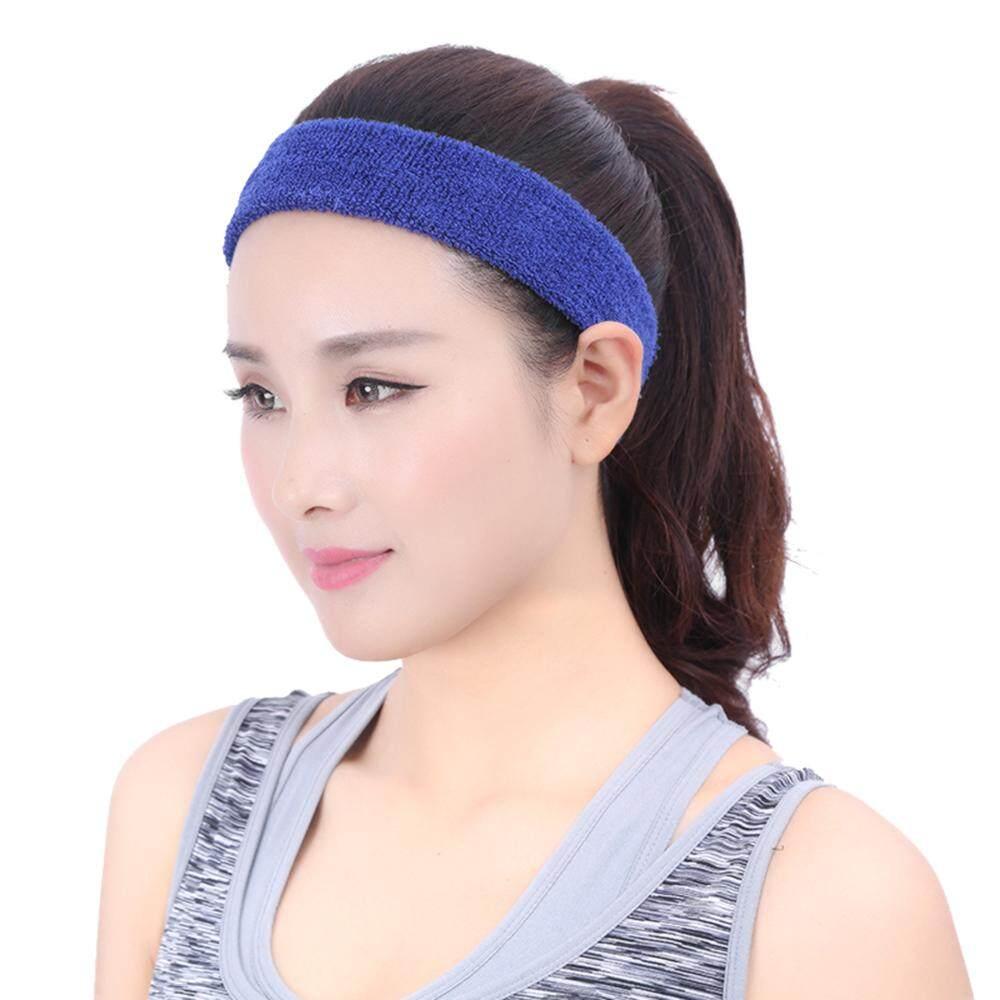 ecc0b7cbf40c8 Sports Sweatband Men / Women Elastic Headband Anti-slip Fitness Hairband  Athletic Cotton Terry Cloth for Running Gym Working Out
