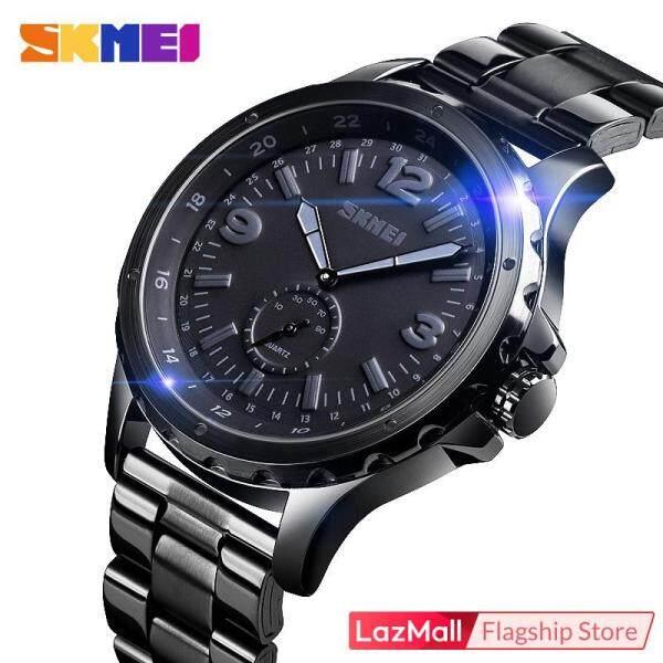 SKMEI Men Fashion Watches Quartz Stainless Steel Black Waterproof Casual Sport Watch For Man 1513 Malaysia