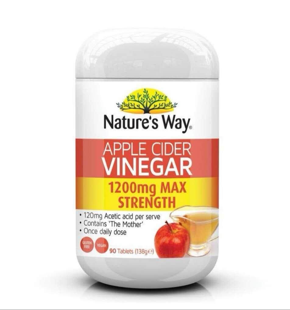 Nature S Way Apple Cider Vinegar 1200mg 90 Tablets Lazada