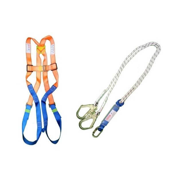 Full Body Harness c/w dorsal Anchorage point and Two points steel and Two points plastic Buckles HT08, Capacity: 100kg from www.ByBigPlus.com