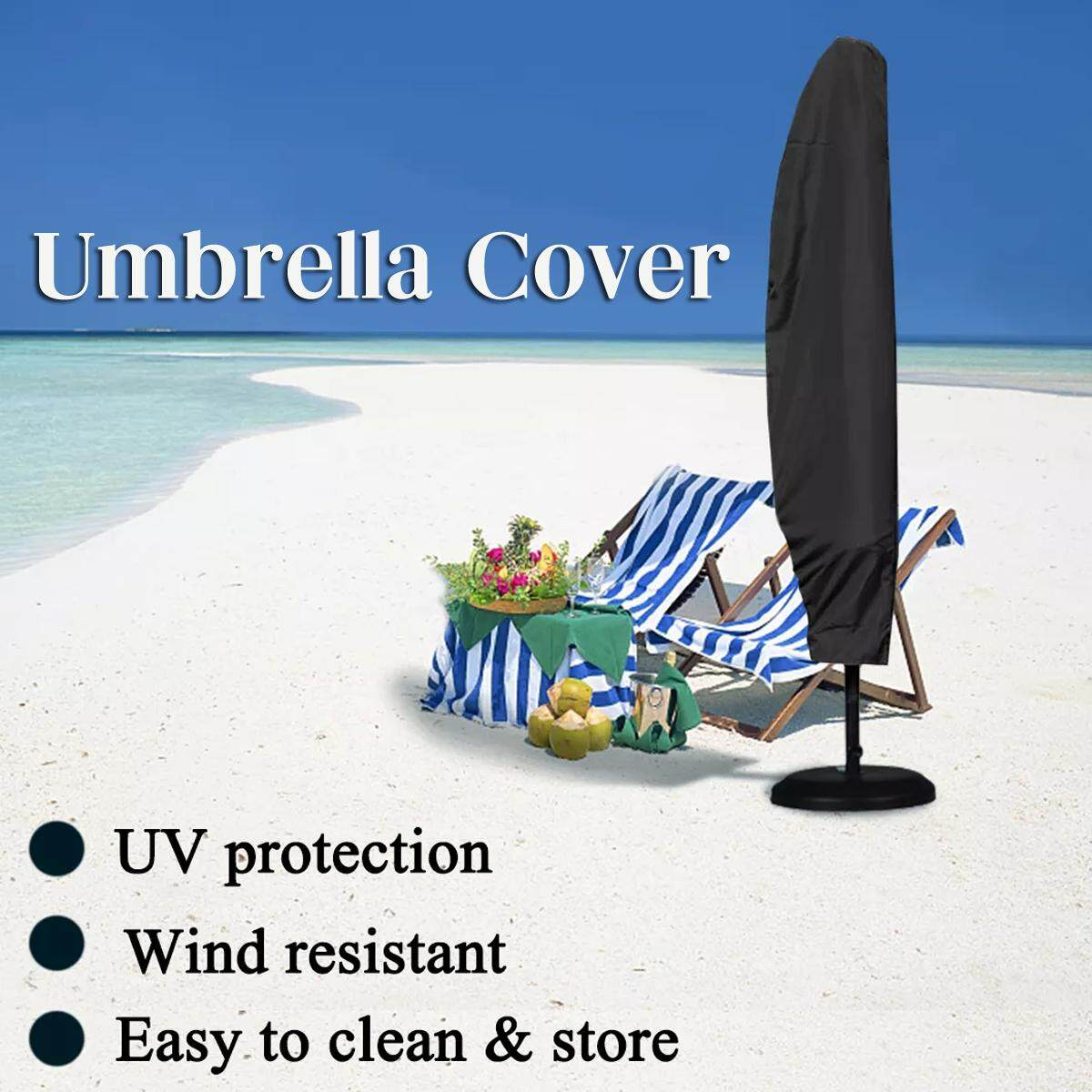 280cm Height Parasol Banana Umbrella Cover Waterproof Windproof Outdoors Shelter