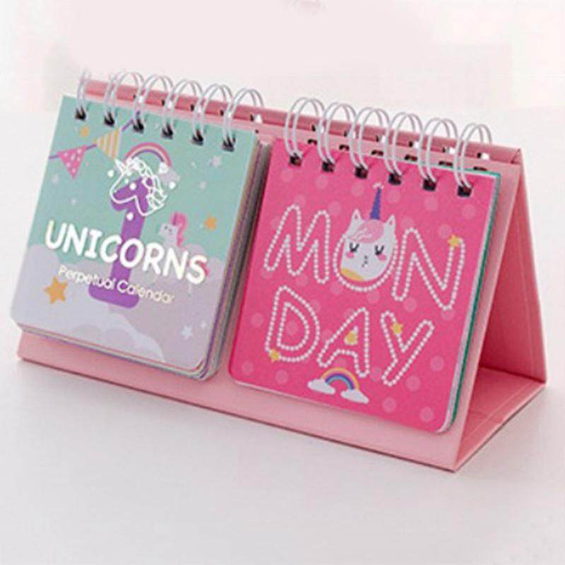 Calendar Kawaii Cartoon Animal Calendar Desk Standing Paper Calendar Multifunction Schedule Planner Notebook Sale Overall Discount 50-70% Calendars, Planners & Cards