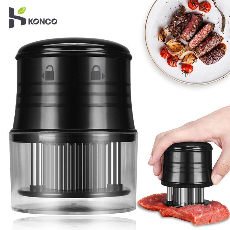 Konco Professional Needle Meat Tenderizer, 56 Stainless Steel Blades For Steak, Chicken, Fish And Pork, Kitchen Cooking Tools By Konco.