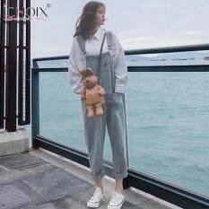 Yếm Denim Hàn Quốc ICHOIX Cho Nữ, Quần Yếm Có Dây Dáng Rộng Thường Ngày Mùa Xuân Thu 2019