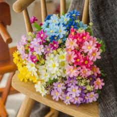 Houseeker Bó 28 đầu hoa cúc giả bằng lụa nhiều màu sắc trang trí nội thất