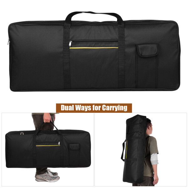 Portable 76 Key Electronic Piano Keyboard Gig Bag Carrying Bag Storage Holder Case 420D Cloth Malaysia