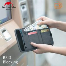 Naturehike Ví Du Lịch Chặn RFID Túi Đựng Vé Thẻ Tín Dụng Tiền Mặt, Khóa Kéo YKK Nylon Chống Nước Chỉ 37g