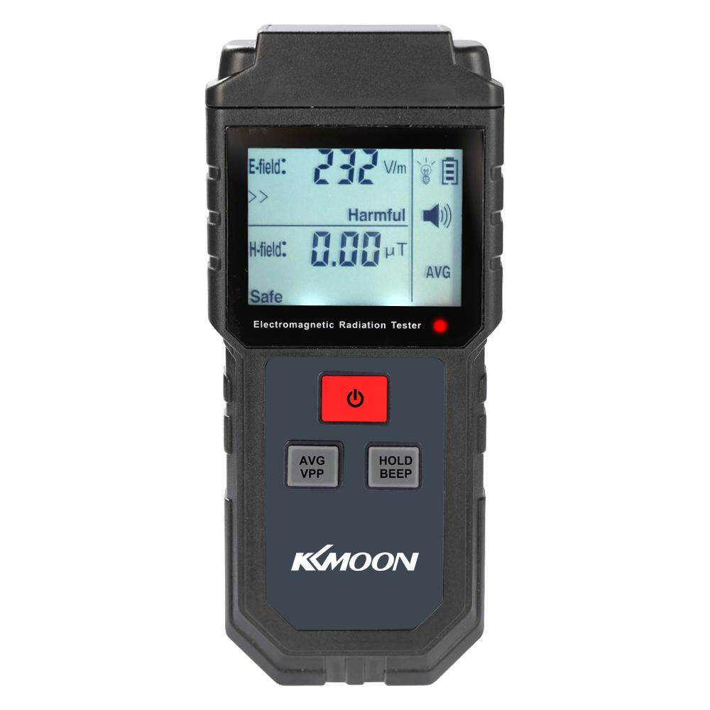 KKmoon Portable Handheld Digital LCD Electromagnetic Radiation Tester Electric Field Field Dosimeter Detector with Sound and Light Alarm